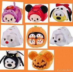 2015 Halloween Tsum Tsums from Japan. Reposted from Hawaian Seaside.