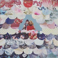 """""""Jane has a friend"""" (link in my bio) #artwork#collage #colors #flowers #janebirkin #natassjakinski #paristexas #movie #icon #mywork #artWork #design"""