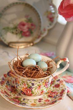 Teacup Nest by Romantic Home, via Flickr