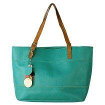 SHENGXILU Women's PU Leather Handbag Orange