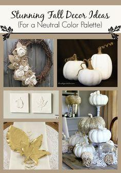 40+ Gorgeous Fall Decor Ideas For A Neutral Color Palette #FallPreview