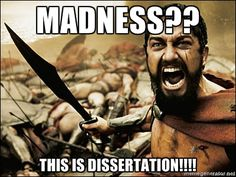 This Is Sparta Meme - Madness?? THIS IS DISSERTATION!!!!