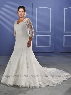 Attractive plus size wedding dresses seem to becoming more widely available.
