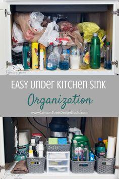 Easy Under The Kitchen Sink Organization   Garrison Street Design Studio