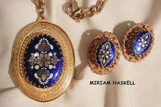 September sale many items reduced from 20 to 60% off Visit my Ruby Plaza Shop Link on home page Rare Extraordinary Miriam Haskell Russian gold tone Large Locket from vintageshari on Ruby Lane