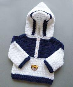 Crochet Hooded Sweater UK, a free crochet pattern for a month ., # crochet pattern Crochet Hooded Sweater UK, a free crochet pattern for a month . Kathi Baby Crochet Hooded Sweater UK, a free croche Crochet Baby Jacket, Crochet Baby Sweaters, Crochet Hoodie, Crochet Clothes, Baby Knitting, Crochet Cardigan, Double Knitting, Knitting Yarn, Double Crochet