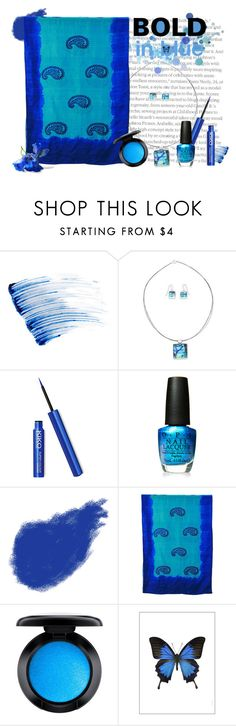 """""""BOLD in blue"""" by vveave-silk ❤ liked on Polyvore featuring beauty, Yves Saint Laurent, NOVICA, OPI, Giorgio Armani, MAC Cosmetics and Liljebergs"""