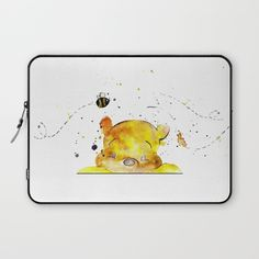Yellow Bear Laptop Sleeve by Salome | Society6