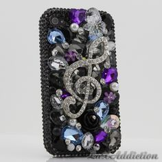 """Style 394 This Bling case can be handcrafted for iPhone 4/4S, 5, 5S, all Samsung Galaxy models (S3, S4, Note 2). The current price is $79.95 (Enter discount code: """"facebook102"""" for an additional 10% off during checkout)"""