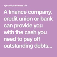 One way drainage consolidating debt