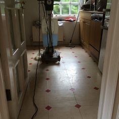 Before Vinyl stripping and sealing Vinyl Floor Cleaners, East Sussex, Vinyl Flooring, Surrey, Hampshire, Home Appliances, House Appliances, Vinyl Floor Covering, Hampshire Pig