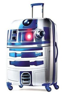 Prepare for your trip to a galaxy far, far away by securing your belongings in this Star Wars 28' Hardside Spinner R2D2 suitcase. - American Tourister