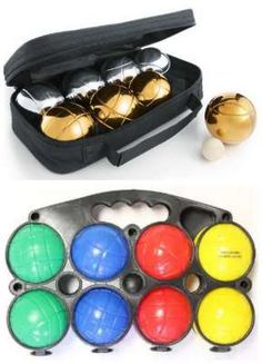 this game is so fun and we learned to play it in France. petanque bocce boules bowling