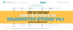 How to update Silhouette Studio software