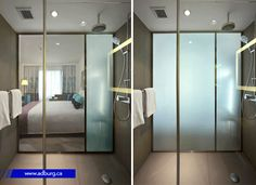 Smart Glass (Switchable Glass) is a Switchable Privacy Film (Smart Film) based on a Switchable Glazing Technology (Interactive Window Film) that instantly changes your window from Transparent Window to Frosted Window (Magic Window Film) creating 100% privacy by touching a remote control button. #privacyglass #smart_glass #Lebanon_Riyadh #interactice_glass