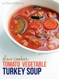 I made three bags of this Crockpot Tomato Turkey and Vegetable Soup during a freezer meal prep...