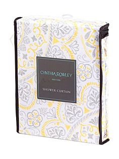 Cynthia Rowley Indian Elephant Fabric Shower Curtain 72