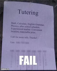 #TutorBuddies ----- Tutoring FAIL, should've just signed up at TutorBuddies. Frick.