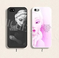 Disney phone case Disney frozen phone case Disney Elsa case for iPhone 4/4s 5/5s Galaxy s3 s4 s5 Hard plastic and soft Rubber on Etsy, $9.99
