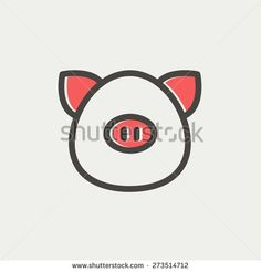 Pig Outline Stock Photos, Images, & Pictures | Shutterstock