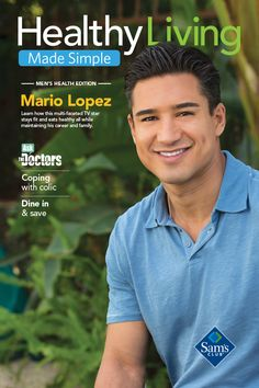 Look who made the latest cover of Healthy Living Made Simple magazine! It's Mario Lopez!