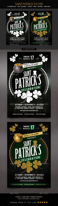 St. Patrick's Day Flyer Template PSD. Download here: http://graphicriver.net/item/st-patricks-day-flyer/15197296?ref=ksioks