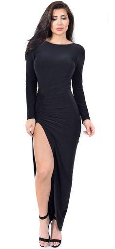 Eyes On You High Slit Maxi Dress