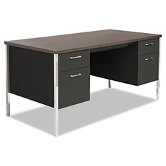 Alera SD216030BW 60 by 30 by 2912Inch Double Pedestal Steel Desk Walnut ** You can get more details by clicking on the image.Note:It is affiliate link to Amazon.