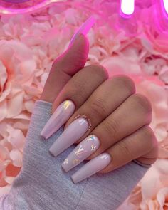 24 perfect unicorn nails for short nails to copy for spring Cute Acrylic Nail Designs, Simple Acrylic Nails, Summer Acrylic Nails, Spring Nails, Summer Nails, Aycrlic Nails, Swag Nails, Blush Nails, Stiletto Nails