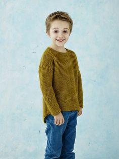 Drengesweater med buet kant | onion