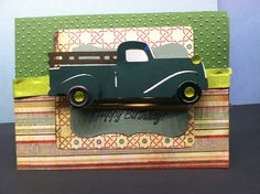 2012 - Pickup Truck Birthday card for man- Made by Kris