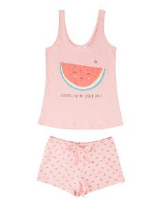 women'secret   Las + divertidas   Summer fruits   Pijama corto de algodón