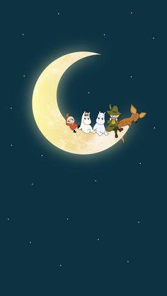Cartoon Wallpaper, Moomin Wallpaper, Kawaii Wallpaper, Screen Wallpaper, Wallpaper Backgrounds, Iphone Wallpaper, Les Moomins, Moomin Valley, Whatsapp Wallpaper