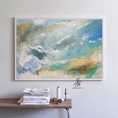 Sea Print, Large Beach Poster, Wall Art Print, Abstract Ocean Print, Digital Download, Abstract Art, Ocean Wall Art by AbstractPrintArt on Etsy #abstractart