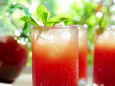 Watermelon-Mint Iced Tea (Greek Inspired) Recipe : Bobby Flay : Food Network - FoodNetwork.com