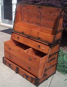 Antique Steamer Trunk #320