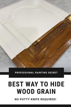 The best way to get rid of deep wood grain without using a putty knife or spreader! FREE Video tutorial on the easiest way to fill open wood grain in cabinets and furniture NO PUTTY KNIFE NEEDED! Learn tips and tricks from a pro! Diy Kitchen Cabinets, Kitchen Paint, Kitchen Redo, How To Paint Kitchen Cabinets White, Updating Oak Cabinets, Best Cabinet Paint, Kitchen Makeovers, Kitchen Countertops, Do It Yourself Furniture