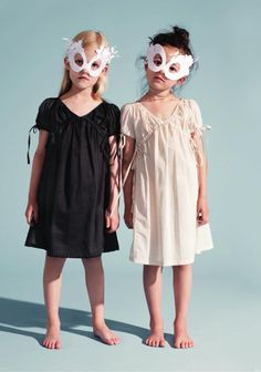 just a pic - but they look easy enough to make(dresses from Smallable - no idea what/where that is)