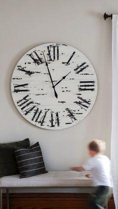 Country Farmhouse Decor, Industrial Farmhouse, Modern Farmhouse, Handmade Clocks, Distressed Walls, Home Decor, Decoration Home, Room Decor, Country Home Decorating