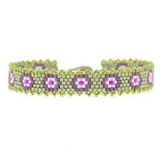 Purple Pansies Bracelet | Fusion Beads Inspiration Gallery