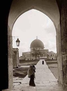 Jerusalem-Palestine 1900   Palestine History, Israel Palestine, Dome Of The Rock, Temple Mount, Turkish Design, Historical Maps, Holy Land, Photojournalism, Islamic Art