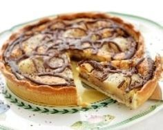 Pear pie with chocolate, a great combination Georgian Cuisine, Pear Dessert, Pear Pie, Sweet Tarts, No Bake Cake, My Favorite Food, Sweet Recipes, Quiche, Rum