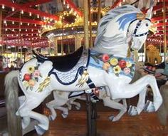 Carousel horses. Magical. Perhaps because of my lifelong obsession with horses, but one of my all time favourites! Would really love to learn how to carve these!