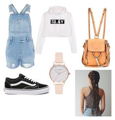 """school outfit"" by outfitt ❤ liked on Polyvore featuring Topshop, Vans, Chloé and Olivia Burton"
