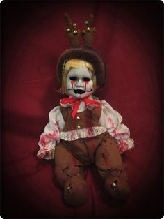 Tears of Blood Reindeer Creepy Horror Doll by Bastet2329 [730628] - $75.00 : Mystic Crypt, the most unique, hard to find items at ghoulishly great prices!