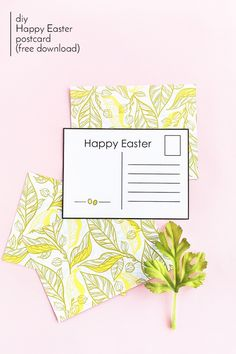 DIY Easter Postcards (Free Printable) on Maritza Lisa - Create your own postcards and send them off for Easter with this easy tutorial. Click through for your copy!