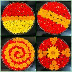 Flower Rangoli For Diwali Flower Rangoli Images, Simple Flower Rangoli, Simple Rangoli Designs Images, Rangoli Designs Flower, Colorful Rangoli Designs, Rangoli Ideas, Rangoli Designs Diwali, Diwali Rangoli, Beautiful Rangoli Designs