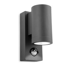 Firstlight 'Shelby' IP65 LED 1 Light Outdoor Up & Down PIR Sensor Wall Light, Graphite Finish - 5939GP None