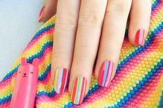 Fluo stripes // @nonsolokawaii per @Grazia Micalizzi