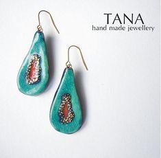 Tana šperky - keramika/zlato by Tana - SAShE.sk - Handmade Náušnice